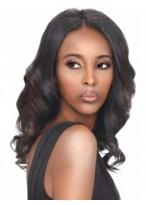 Charming Lace Front Long Wavy Human Hair Wig