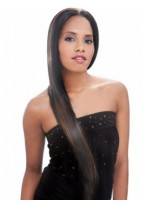 Fashionable Straight Long Synthetic African American Wig