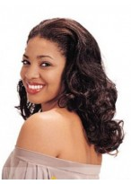 Fabulous Medium Wavy African American Lace Wig