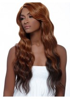 Excellent Long Wavy Lace Front Human Hair Wig