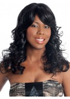 Charming Long Wavy Remy Hair Lace Front Wig