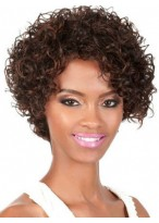 Brilliant Short Curly Lace Front Human Hair Wig