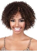 Attractive Medium Curly African American Wig