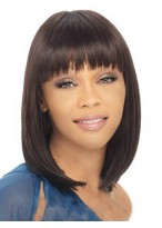 Straight Comfortable Lace Front African American Wig