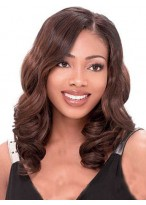 Cheap Lace Front Wavy Synthetic African American Wig