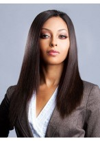Shimmering Straight Lace Front Synthetic Wig