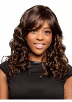 Comfortable Wavy Capless Synthetic African American Wig
