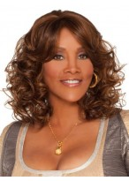 Top Quality Wavy Lace Front Synthetic African American Wig