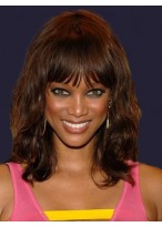 Gorgeous Wavy Capless Remy Human Hair African American Wig