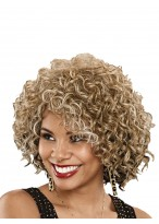 Chic Curly Lace Front Remy Human Hair African American Wig