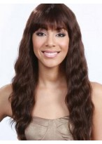 Flattering Wavy Capless Remy Human Hair African American Wig