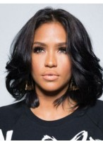 Romantic Wavy Lace Front Remy Human Hair African American Wig