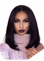Pretty Straight Lace Front Synthetic African American Wig