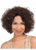 Medium Length Luscious Curly Lace Front Wig