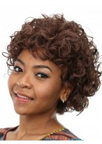 Voluminous Curly Lace Front Remy Human Hair African American Wig