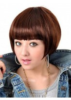 Dark Brown Straight BOB Wig