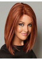 Fine Straight Lace Front Synthetic Bob Wig