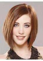 Medium Straigh Lace Front 100% Human Hair Bob Wig