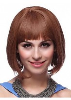 Remy Human Hair Full Fringe Bob Wig