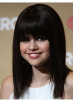 Selena Gomez's Straight Wig With Full Bangs