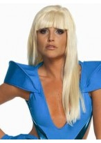 Lady Gaga Sexy Long Straight Capless Wig