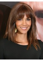 Comfortable Straight Halle Berry's Hairstyle Wig
