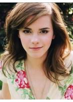 Emma Watson Style Wavy Lace Front Human Hair Wig