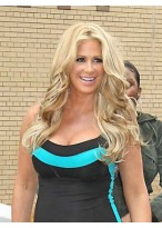 Kim Zolciak Modern Wavy Human Hair Lace Front Wig