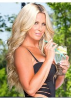 Kim Zolciak Marvelous Wavy Synthetic Lace Front Wig