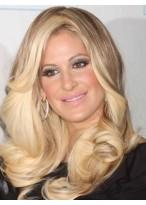 Kim Zolciak Comfortable Wavy Lace Front Mono Top Synthetic Wig