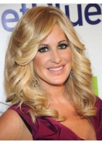 Kim Zolciak Most Popular Wavy Lace Front Synthetic Wig