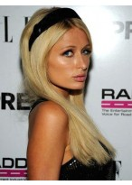 Paris Hilton Straight Human Hair Lace Front Wig