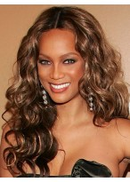 Tyra Banks Good Looking Lace Front Wavy Synthetic Wig