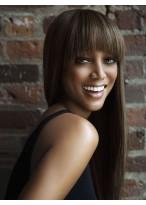 Tyra Banks Shimmering Straight Capless Human Hair Wig