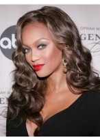 Tyra Banks Seductive Lace Front Wavy Synthetic Wig