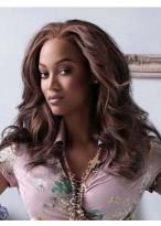 Tyra Banks Elegant Wavy Lace Front Human Hair Wig