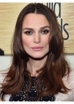 Keira Knightley Pretty Wavy Lace Front Remy Human Hair Wig