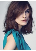 Keira Knightley Durable Wavy Lace Front Synthetic Wig