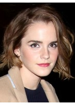 Emma Watson Concise Wavy Lace Front Remy Human Hair Wig