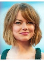Emma Stone New Style Straight Capless Remy Human Hair Wig