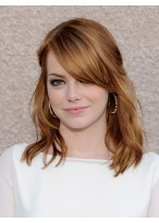 Emma Stone Graceful Wavy Lace Front Synthetic Wig