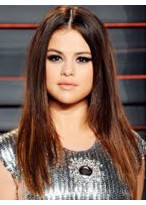 Selena Gomez Good Straight Lace Front Remy Human Hair Wig