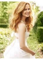 Nicole Kidman Marvelous Wavy Lace Front Synthetic Wig