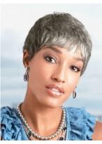 Super Short Synthetic Grey Wig