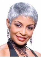 Super Short Synthetic Silver Wig