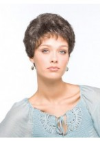 Wavy Short Capless Grey Wig