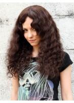 Curly Human Hair Capless Long Wig