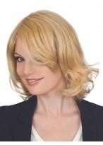Beautiful Medium Length Human Hair  Wig