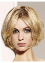 Chic Wavy Bob Lace Wig With Curly Ends