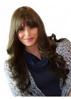 Long Wavy Monofilament Top Remy Human Hair Wig